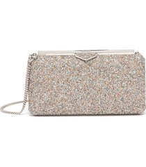 ellipse' coarse glitter clutch