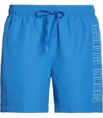 calvin klein heren zwembroek - licht blauw/logo-s