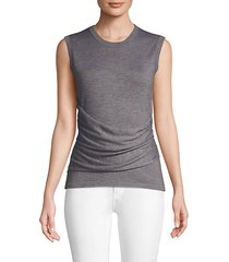 ruched cashmere & silk blend top