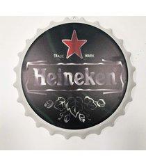 placa tampa cerveja decorativa churrasqueira cerveja 40x40x5