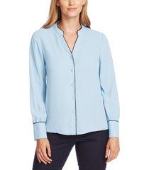 vince camuto contrast-trim blouse