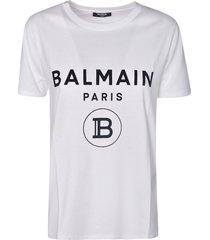 balmain round b logo print t-shirt