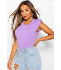 petite shoulder pad t-shirt, lilac