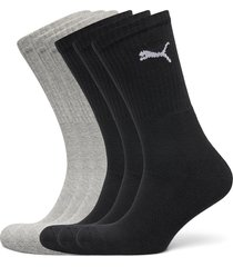 puma crew sock 6p underwear socks regular socks svart puma