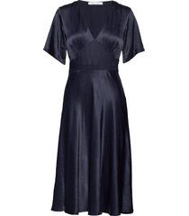 cindy dress 10447 jurk knielengte blauw samsøe samsøe