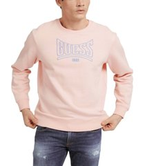 guess men's roy retro logo crewneck sweatshirt