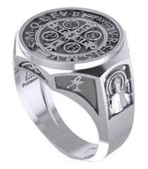 anel são bento em 950 pratamil joias feminino - feminino