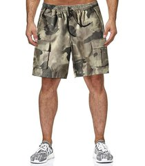 hombres summer loose casual camouflage multi-pocket tooling shorts
