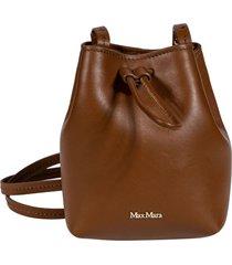 max mara logo plaque plain bucket bag