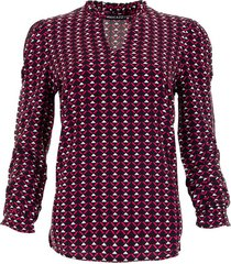 maicazz sanell blouse sp21.20.003 fuchsia triangle
