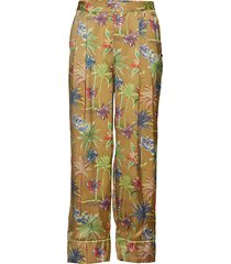 printed wide leg pyjama inspired pants vida byxor multi/mönstrad scotch & soda