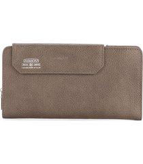 as2ov shrink long wallet - brown