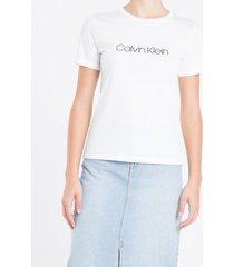 camiseta gola careca calvin klein - branco - pp