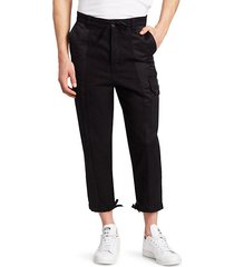 tailored-fit patchwork cargo pants