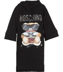 moschino mixed teddy bear dress