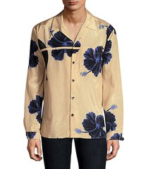 souvenir floral-print button-down shirt