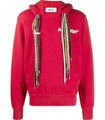 multi-cord hoodie sweatshirt,