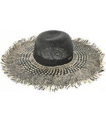 sombrero desflecado negro humana