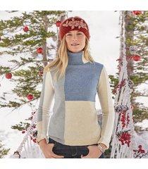 star gazer patchwork sweater