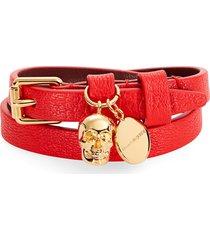 alexander mcqueen double wrap bracelet in red at nordstrom