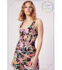 bodysuit floral print - black - xs