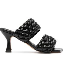 paul warmer braided-strap sandals - black