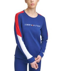 tommy hilfiger sport graphic colorblocked-stripe top