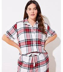 loft plus plaid pajama top