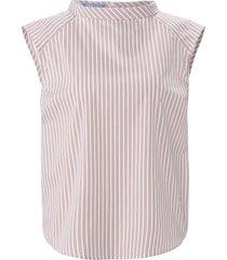 blouseshirt met streepdessin van day.like wit