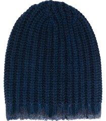 avant toi chunky knit beanie - blue