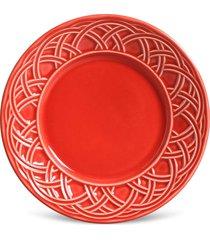 conjunto 6pçs pratos de sobremesa porto brasil cestino vermelho