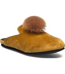 hums tassle loafer mules slip-ins gul hums