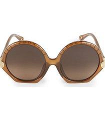 vera 56mm scallop round sunglasses