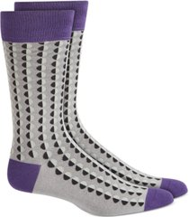 alfani men's shaded circle dot socks, created for macy's