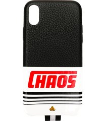chaos reflective logo iphone x case - black