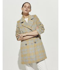 tapado gris portsaid chequered coat rembrandt