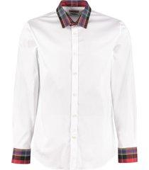alexander mcqueen stretch poplin shirt