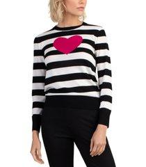 trina turk striped heart sweater