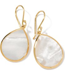 ippolita 'rock candy - mini teardrop' 18k gold earrings in yellow gold/mother of pearl at nordstrom