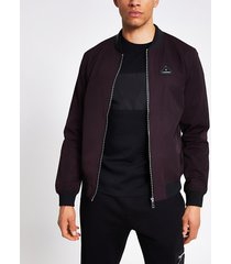 river island mens mcmlx dark red bomber jacket