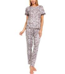 flora by flora nikrooz shania snake-embossed pajama set