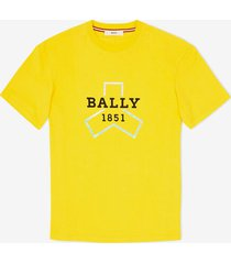 bally grip printed t-shirt yellow l