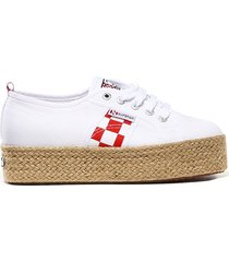 mc2 saint barth womens white superga® platform sneakers - special edition