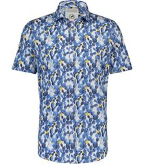 a fish named fred 20.03.075 shirt light blue cactus blue print - wit