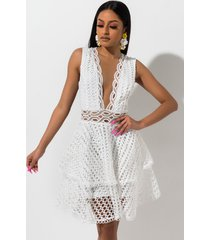 akira stop and stare lace mini dress