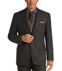 joseph abboud olive plaid modern fit suit