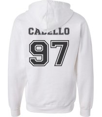cabello 97 on back black ink 5th fifth harmony unisex hoodie white