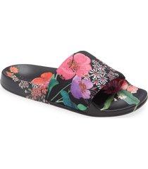 ted baker london ashlin metropolis slide sandal, size 10.5us in black at nordstrom