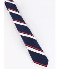 thom browne stripe silk tie