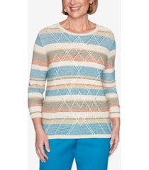 alfred dunner women's colorado springs textured biadere sweater